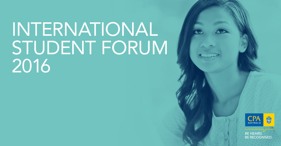 CPA Australia International Student Forum